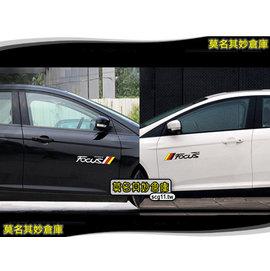 莫名其妙倉庫~FL079 車側裝飾貼~炫彩字樣 旗幟風格 黑白雙色 New Focus M
