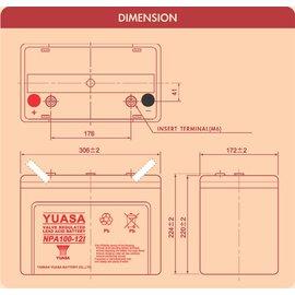 ~ 免 ~~電力中心~YUASA NPA100~12I工業用閥控式鉛酸蓄電池^(交期約7天