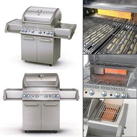 【烤爐行家】4+1+1支不鏽鋼重型燃燒器-高級不鏽鋼戶外瓦斯GAS烤肉爐(限用液化瓦斯)-GSF2818AN