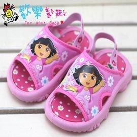 ~歡樂童鞋 ~Dora~2999粉~小童鬆緊帶拖鞋^(13.5cm~16cm^)