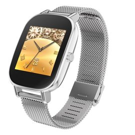 ASUS 華碩穿戴式智慧手錶 ZenWatch 2 WI502Q優雅銀鍊 1.45吋觸控螢幕 Bluetooth4.1+Wifi Android Wear 支援Android 與 iOS 手機