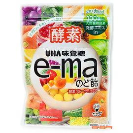 【吉嘉食品】UHA味覺糖 e-ma酵素綜合水果喉糖(袋裝) 1包50公克70元,日本進口,另有旅行者6號水果乾{4514062254845:1}