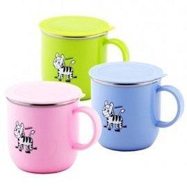 斑馬 兒童馬克杯( 附蓋)7cm/250ml  *顏色隨機出貨*