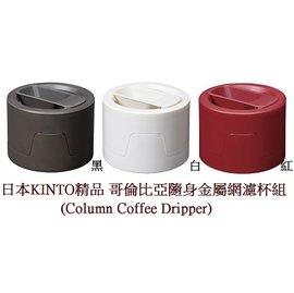 KINTO 哥倫比亞隨身金屬網咖啡濾杯組^(Column Coffee Dripper^)