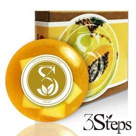 3.STEPS果漾煥膚木瓜活性酵素皂38g 入
