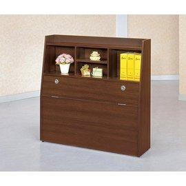 ~尚品傢俱~CM~201~6 羅爾3.5尺胡桃色書架型被櫥頭