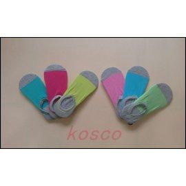 雙色圓口船型襪 止滑隱形襪 襪子 襪套 短襪 後跟矽膠條不脫落^( 3雙入^)