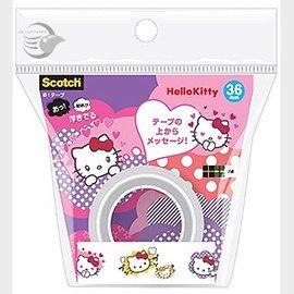 Hello Kitty 凱蒂貓 3M KITTY01充滿愛意~隱形膠帶 ATM36~KT0