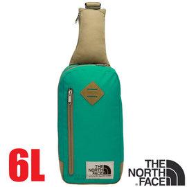 【美國 The North Face】新款 6L 多功能耐磨單肩側背包.斜背包.隨行提包.零錢包/復古風格.可放IPhone等3C用品/CJ4T 撞球綠/摩布卡其