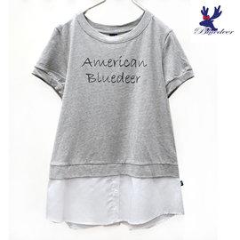 American Bluedeer 2016春夏藍鹿魅力價 假兩件長版T