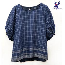 American Bluedeer 2016春夏新品 英倫格紋上衣