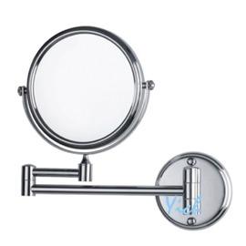 ~宜居衛浴~YM~763 8吋 304不鏽鋼 雙面 伸縮鏡 化妝鏡 美容鏡 圓鏡 平面 放