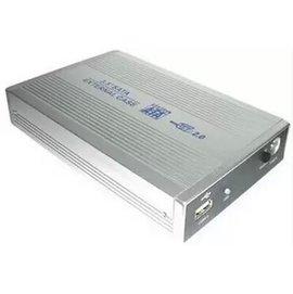 新竹市 USB 2.0 鋁合金外殼 行動硬碟盒/筆電外接盒 (SATA - 3.5寸/3.5吋)