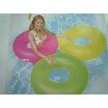 玩樂 美國INTEX 59262 螢光充氣游泳圈 浮圈 坐圈 夏天玩水 游泳 戲水好玩又