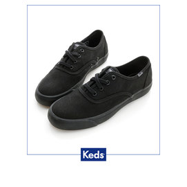 Keds 帆布鞋 舒適 學院風 女款 ~ 全黑 W131518