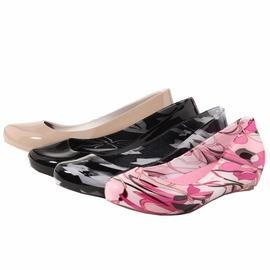 時常雨鞋低筒防滑雨靴夏舒適女 韓國果凍水鞋套鞋帶鞋墊2014