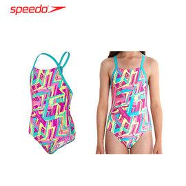 SPEEDO Carnival Camo SB 女孩競技連身泳裝(兒童 泳衣 游泳 【03450010】≡排汗專家≡