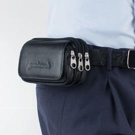 3層小腰包多 男士手機鑰匙駕證煙錢小掛包戶外迷你穿皮帶