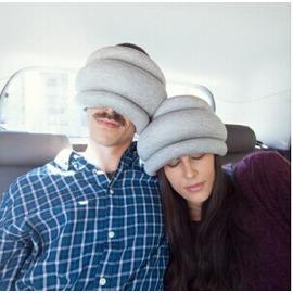 男女圍脖午睡靠枕 睡眠眼罩 鴕鳥枕頭
