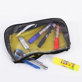 遇青鳥 超輕便攜折疊TPU筆袋透明可視防水化妝包 雜物收納整理包