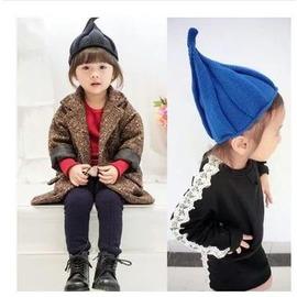寶寶針織毛線帽子嬰兒男女童秋 風車尖尖帽 保暖套頭小孩帽