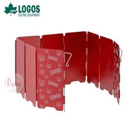 探險家戶外用品㊣NO.84704002 日本品牌LOGOS 鋁合金9片擋風片(紅) 附收納袋 檔風板擋風板遮風片檔風片防風罩防風廉