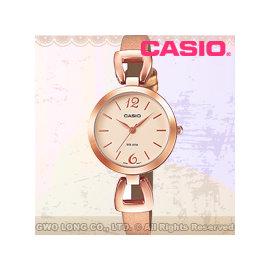 CASIO 卡西歐 手錶 LTP~E402PL~9AVDF 女錶 指針錶 真皮錶帶 玫瑰金