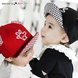寶寶立體耳朵手掌翻沿棒球帽 遮陽帽 鴨舌帽【HH婦幼館】