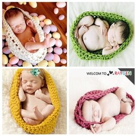 童裝 嬰兒攝影寫真毛線針織睡袋【HH婦幼館】
