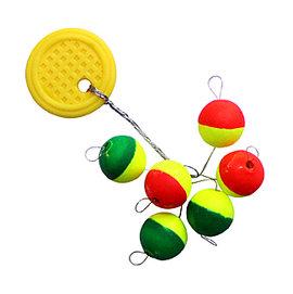 ◎百有釣具◎太平洋POKEE 球型雙色發泡太空豆 規格:0/1/2/3/3.5/4