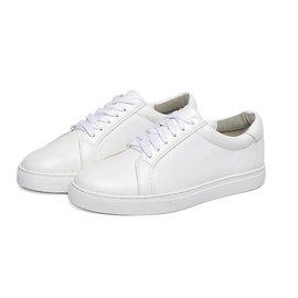 繫帶小白鞋 面料手感柔軟紋路清淅 獨特舒適防滑耐磨 輕便35~39號