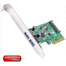 ~高雄程傑電腦~ 伽利略 PTU312A ~ USB3.1 擴充卡 ~ PCI~e 4X