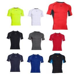 UA UNDER ARMOUR HG Armour男短袖T恤(緊身衣 免運 健身 運動【06180155】≡排汗專家≡