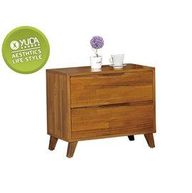 床頭櫃~YUDA~北歐風 丹麥 柚木色 優麗坦 實木 床頭櫃 J6F 009~3