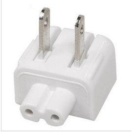 ipad1/2/3/4 筆電/印表機/事物機 8字線/八字線2孔-轉-AC 110V 電源線轉接頭/轉換頭 (白) **特價品**