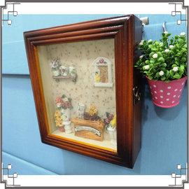 木製田園KEY BOX~WK1~1~鄉村鑰匙盒 木製鑰匙盒 壁櫃 收納櫃 壁飾~夢夢家族~