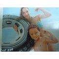 玩樂 美國INTEX 59252 輪胎充氣游泳圈 坐圈 浮圈 夏天玩水 游泳 戲水好玩又
