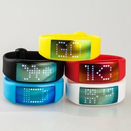 奇酷3CW4智能3D計步手錶 計步手環 個性化簽名觸摸手錶 矽膠LED手錶