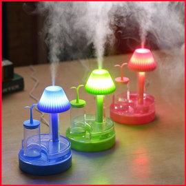 ~3c嘉年華~綠芽USB迷妳家用加濕器夜燈床頭燈燈加濕器兩用便捷 霧化加濕