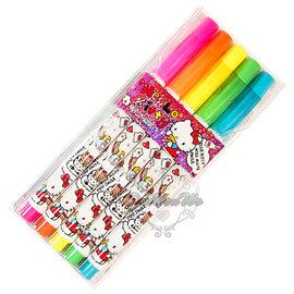 KITTY彩色筆螢光筆重點筆紅橙黃綠藍5色組吃爆米花417449通販部