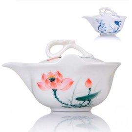 5Cgo ~ 七天交貨~18912429149 茶道陶瓷蓋碗茶杯不燙手茶壺功夫茶具用品三才