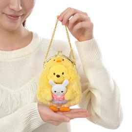 Pun Lapin 正品Disney迪士尼 2016復活節小鴨兔兔絨毛零錢包小包扣扣包 小