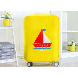 旅遊 、旅行用品 行李箱防塵套保護套收納套加厚防水旅行箱套~交通工具版