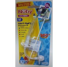 Nuby 卡拉雙耳彈跳吸管杯(270ml)360度吸管配件組 #10346