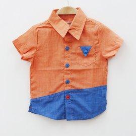 ~捷比 ~瑪寶樂~JVD27212~撞色配色拼接色塊襯衫