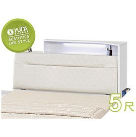 ~YUDA~菲雪 白色 烤漆 LED燈 5尺 雙人 床頭箱 床頭櫃J6F 041~2