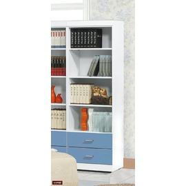 ~台北家福~^(FP124~3^)青少年藍白2尺二抽開放書櫃傢俱