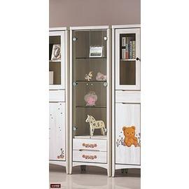 ~台北家福~^(FP142~7^)瑪奇朵北歐栓木彩繪2^~6尺展示櫃傢俱