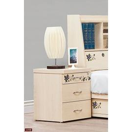 ~台北家福~^(FP144~5^)風采浮雕雲杉木床頭櫃傢俱