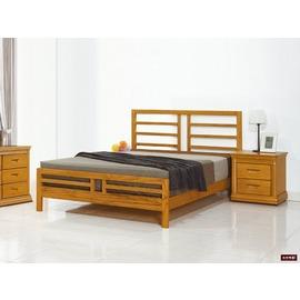 ~台北家福~^(FP186~6^)潔西卡柚木3.5尺床台傢俱